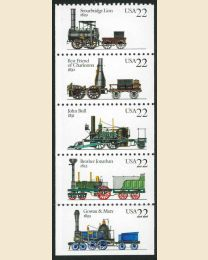 #2362S - 22¢ Locomotives
