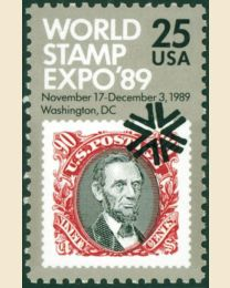 #2410 - 25¢ World Stamp Expo '89