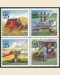 #2434S - 25¢ Classic Mail Transport