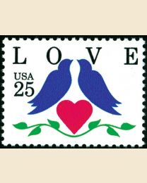 #2440 - 25¢ Love - Birds & Heart