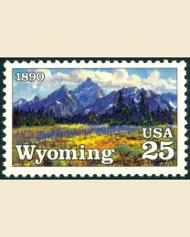 #2444 - 25¢ Wyoming Statehood