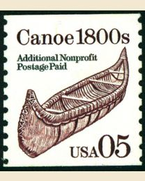 #2453 - 5¢  Canoe Brown