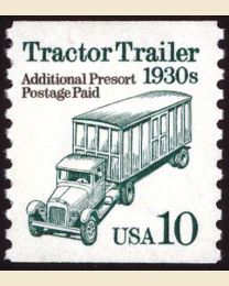 #2457 - 10¢ Tractor Trailer