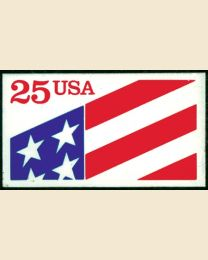#2475 - 25¢ Flag Plastic Stamp