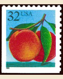 #2487 - 32¢ Peaches perf 11 x 10