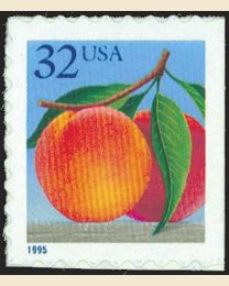 #2493 - 32¢ Peaches perf 8.8