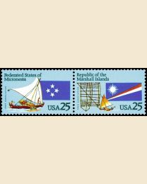 #2506S - 25¢ Micronesia/Marshall Islands