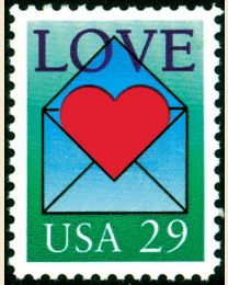 #2618 - 29¢ Love: Heart and Envelope