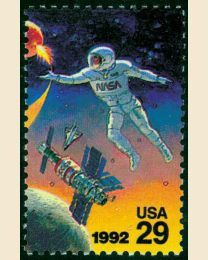 #2632 - 29¢ Astronaut, Space Shuttle & Space Station