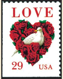 #2814 - 29¢ Love: Dove and Roses