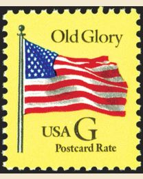 "#2879 - ""G"" Old Glory (Postcard 20¢)"