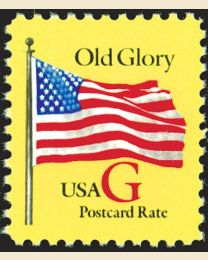 "#2880 - ""G"" Old Glory (Postcard 20¢)"