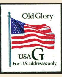"#2886 - ""G"" Old Glory (32¢), Thick Paper"