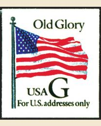 "#2887 - ""G"" Old Glory (32¢), Thin Paper"