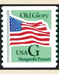 "#2893 - ""G"" Old Glory (Nonprofit 5¢)"