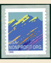 #2904A - Mountains (5¢) nonprofit