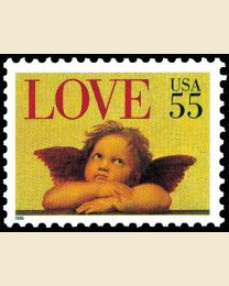 #2958 - 55¢ Love: Cherub sheet
