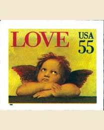 #2960 - 55¢ Love Cherub self adhesive