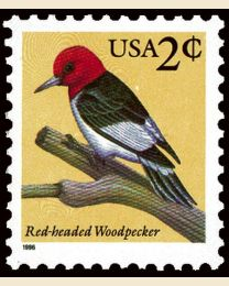 #3032 - 2¢ Red-headed Woodpecker