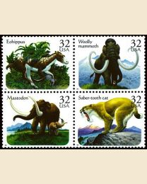#3077S - 32¢ Prehistoric Animals