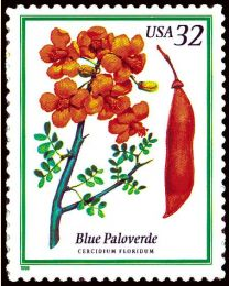 #3194 - 32¢ Blue Paloverde