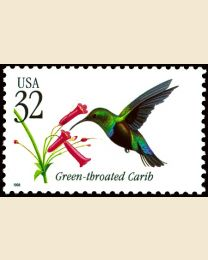 #3223 - 32¢ Green-throated Carib