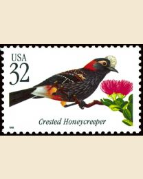 #3224 - 32¢ Crested Honeycreeper