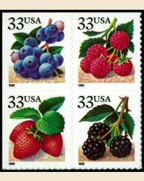 #3294S - 33¢ Berries set of 4