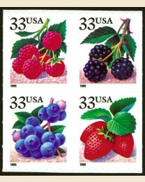 #3298S - 33¢ Berries set of 4
