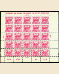 # 630 - 2¢ White Plains Sheet of 25