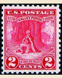 #645 - 2¢ Valley Forge