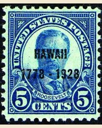 # 648 - 5¢ Hawaii overprint