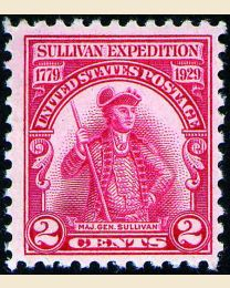#657 - 2¢ Sullivan Expedition