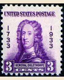 #726 - 3¢ General Oglethorpe