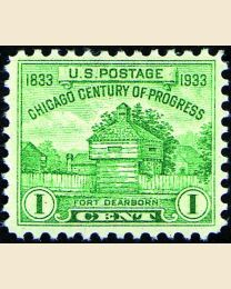 #728 - 1¢ Ft. Dearborn