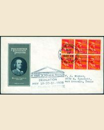 # 803 - 1/2¢ Franklin: FDC