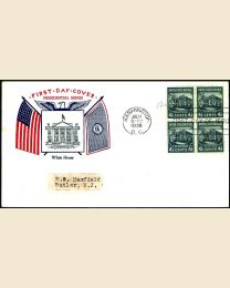 # 809 - 4.5¢ White House: FDC