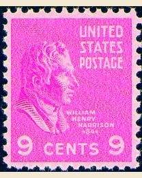 # 814 - 9¢ William Henry Harrison