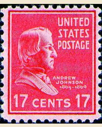 # 822 - 17¢ Andrew Johnson