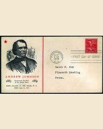 # 822 - 17¢ Johnson: FDC