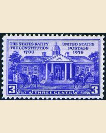 # 835 - 3¢ Ratify Constitution