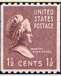 # 849 - 1 1/2¢ Martha Washington