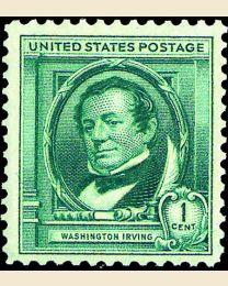 # 859 - 1¢ Washington Irving
