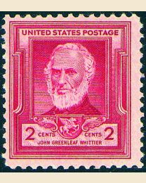 # 865 - 2¢ John Greenleaf Whittier