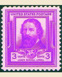 # 866 - 3¢ James Russell Lowell