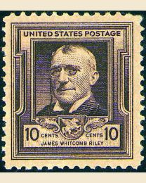 # 868 - 10¢ James Whitcomb Riley