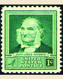 # 874 - 1¢ John James Audubon