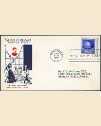 # 877 - 5¢ Walter Reed: FDC