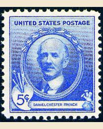 # 887 - 5¢ Daniel Chester French