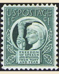 # 908 - 1¢ Four Freedoms